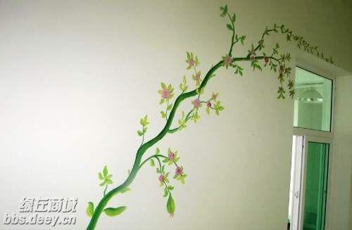 手绘墙画 制造自己的私家风景